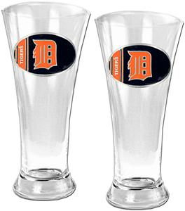 MLB Detroit Tigers 2 Piece Pilsner Glass Set