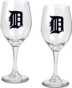 MLB Detroit Tigers 2 Piece Wine Glass Set