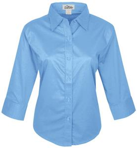 TRI MOUNTAIN Women's Capri 3/4 Sleeve Woven Shirt