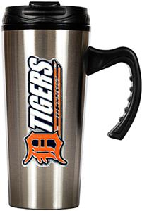 MLB Tigers Stainless Steel 16oz Travel Mug
