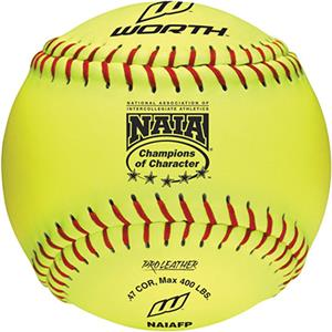 "Worth 12"" Official NAIA Championship Softballs"