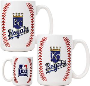 MLB Royals 15oz. Ceramic Gameball Mug Set of 2