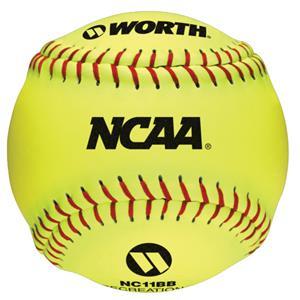 "Worth 11"" NCAA Outdoor Training Softballs C/O"