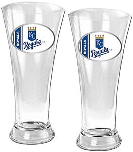 MLB Kansas City Royals 2 Piece Pilsner Glass Set