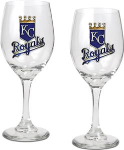 MLB Kansas City Royals 2 Piece Wine Glass Set