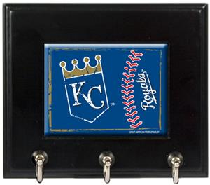 MLB Kansas City Royals Wood Keyhook Rack
