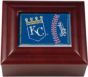 MLB Kansas City Royals Mahogany Keepsake Box