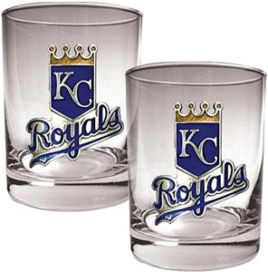 MLB Royals 2 piece 14oz Rocks Glass Set