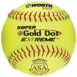 Worth 12&quot; ASA Gold Dot SYCO Slowpitch Softballs