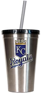 MLB Royals 16oz Stainless Steel Tumbler w/Straw