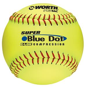 "Worth 12"" Blue Dot ProTac Slowpitch Softballs C/O"