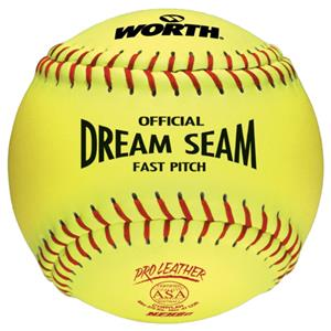 Worth 12&quot; ASA Dream Seam PL Fastpitch Softballs