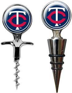 MLB Minnesota Twins Cork Screw & Bottle Topper