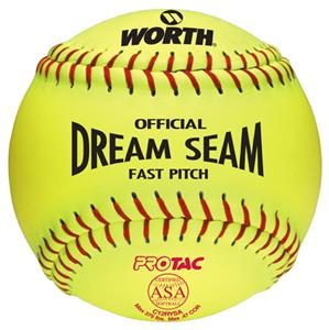 "Worth 12"" ASA Dream Seam PT Fastpitch Softballs"