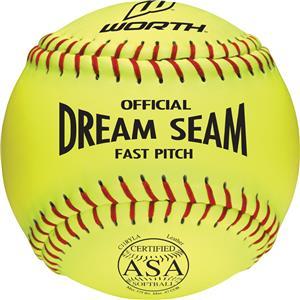 "Worth 11"" ASA Dream Seam PL Fastpitch Softballs EA"