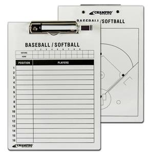 Champro Baseball/Softball Coaches Dry Erase Board