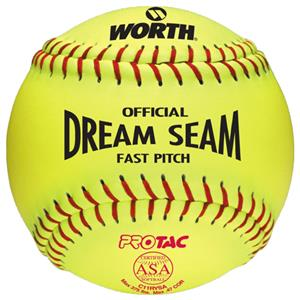 "Worth 11"" ASA Dream Seam PT Fastpitch Softballs"