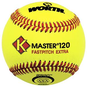 "Worth 12"" ASA K-Master SYCO Fastpitch Softballs"