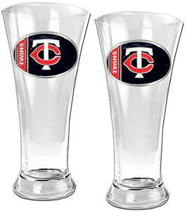 MLB Minnesota Twins 2 Piece Pilsner Glass Set