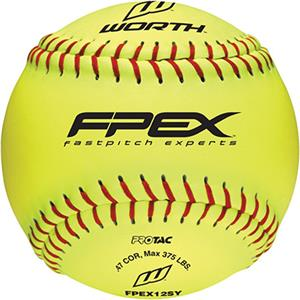 "Worth 12"" FPEX ProTac Practice Fastpitch Softballs"