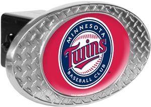 MLB Minnesota Twins Diamond Plate Hitch Cover
