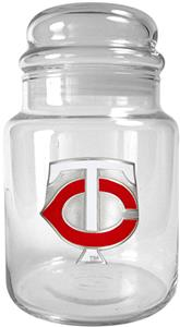 MLB Minnesota Twins Glass Candy Jar