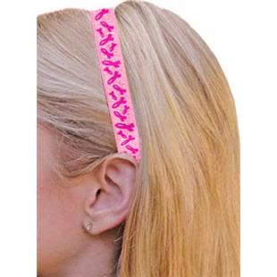 Pink Ribbon Cancer Awareness Elastic Headbands