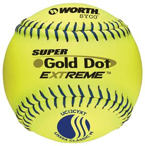 "Worth 12"" USSSA Gold Dot SYCO Slowpitch Softballs"
