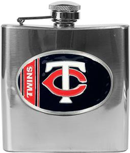 MLB Minnesota Twins 6oz Stainless Steel Flask
