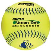 "Worth 11"" USSSA Green Dot PT Slowpitch Softballs"