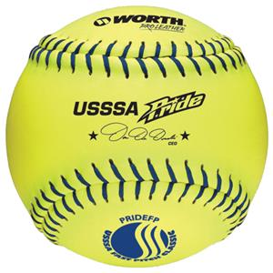 "Worth 12"" USSSA Pride Leather Fastpitch Softballs"