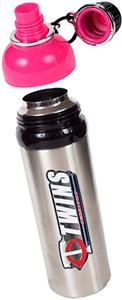 MLB Twins 24oz Stainless Water Bottle Pink Top