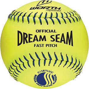 "Worth 12"" USSSA Dream Seam PL Fastpitch Softballs"