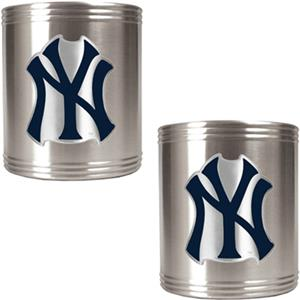 MLB New York Yankees Stainless Steel Can Holders