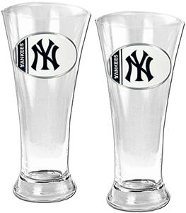 MLB New York Yankees 2 Piece Pilsner Glass Set