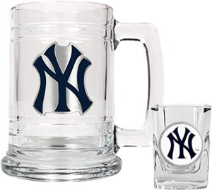MLB New York Yankees Boilermaker Gift Set