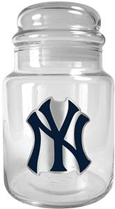 MLB New York Yankees Glass Candy Jar