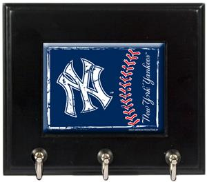 MLB New York Yankees Wood Keyhook Rack