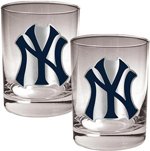 MLB Yankees 2 piece 14oz Rocks Glass Set