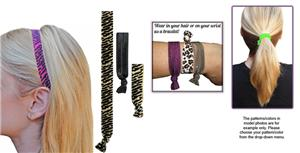 Tiger/Zebra Elastic Headband/Hairtie SET
