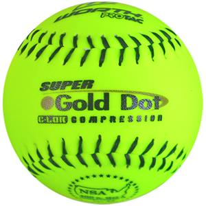 "Worth 12"" NSA Gold Dot ProTac Slowpitch Softballs"