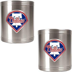 MLB Phillies Stainless Steel Can Holders