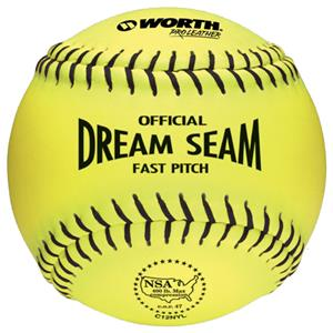"Worth 12"" NSA Dream Seam PL Fastpitch Softballs"