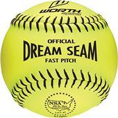 "Worth 11"" NSA Dream Seam PL Fastpitch Softballs"