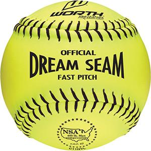 "Worth 11"" NSA Dream Seam PL Fastpitch Softballs"