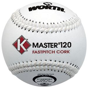 "Worth 12"" ISC K-Master White Fastpitch Softballs"