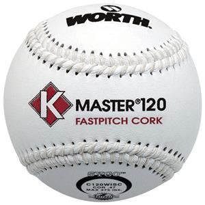 "Worth 12"" ISC K-Master White Fastpitch Softballs"