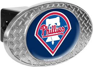 MLB Phillies Diamond Plate Hitch Cover