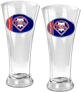 MLB Phillies 2 Piece Pilsner Glass Set