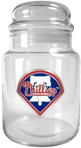 MLB Philadelphia Phillies Glass Candy Jar